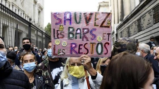 政府のコロナ措置に反対 マルセイユ