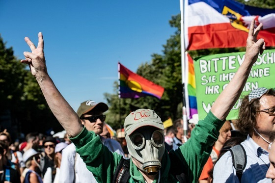 反マスクデモ、ベルリン
