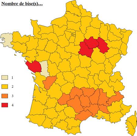 フランス、ビズの回数