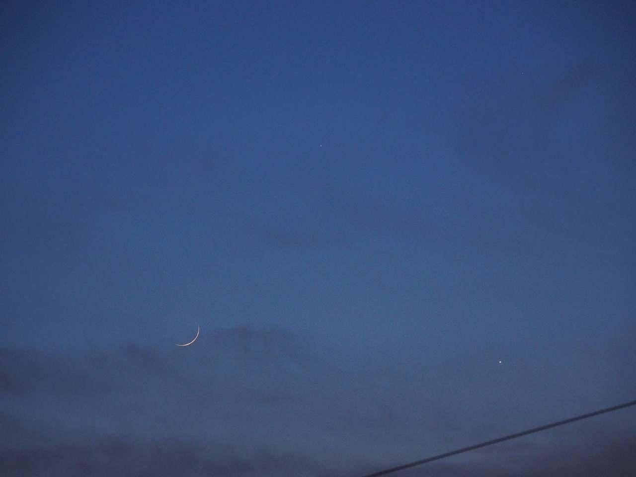 月と金星と水星 2020年5月24日