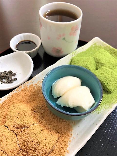 和菓子と甘味 わらび 三種セット