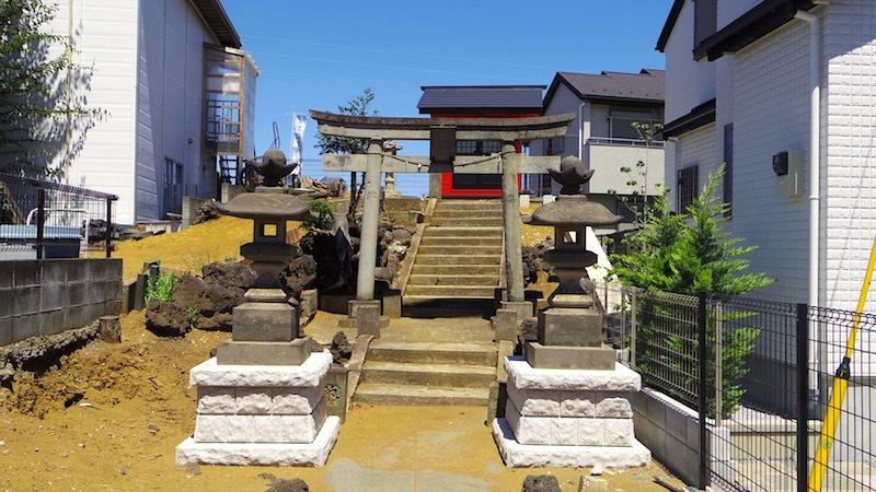 「田中の森と稲荷神社」2