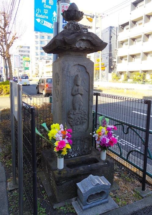 「柳沢庚申塔」2