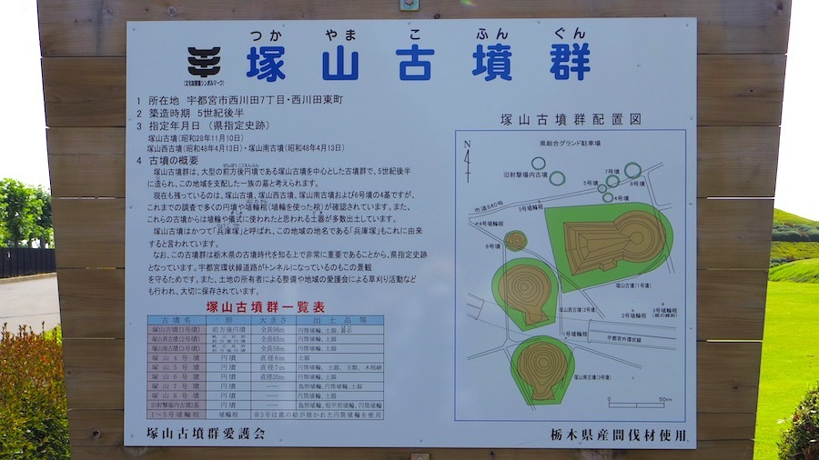 宇都宮市「塚山6号墳」説明板