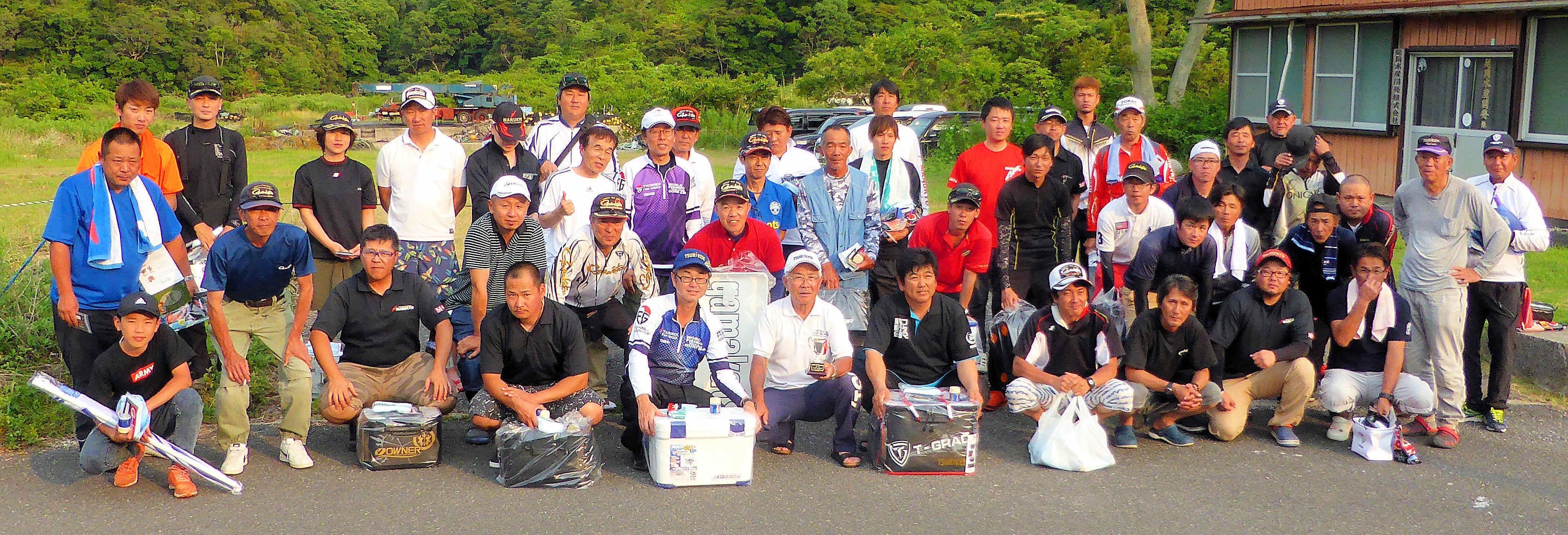 第30回チャリティー釣り大会集合写真