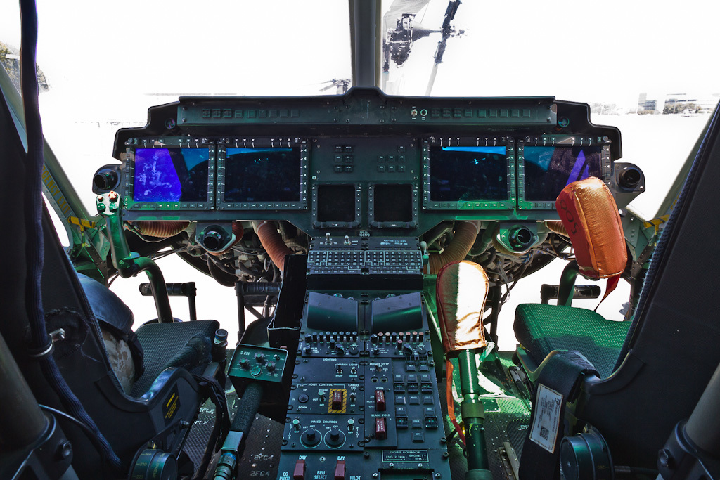 Glass cockpit of UH-1Y