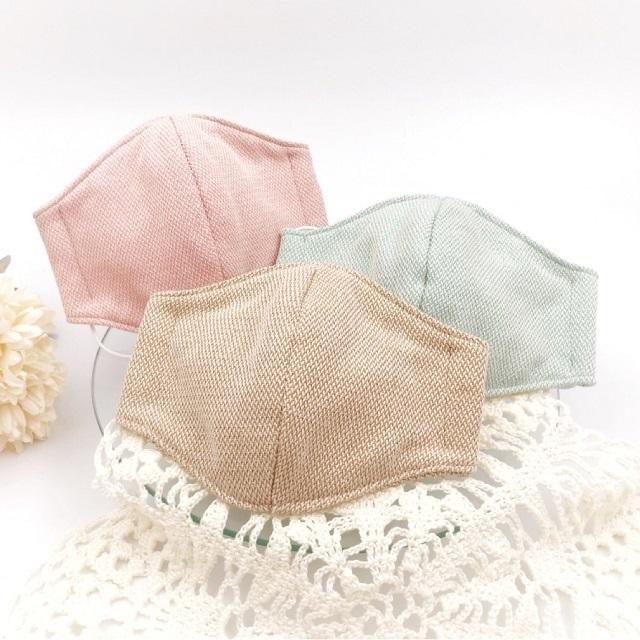 手編み雑貨,HanahanD,マスク,大人用,ラメ,大人かわいい,シンプル