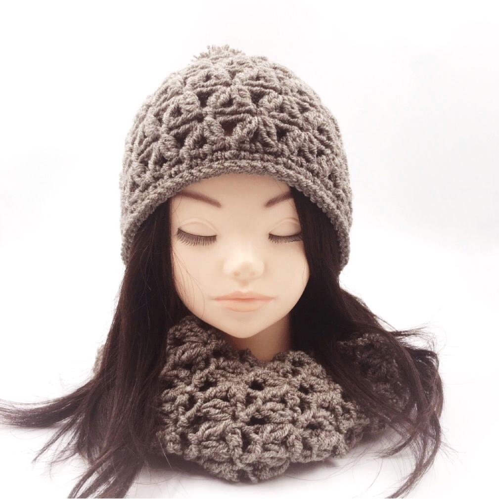 HanahanD ニット帽 手編み 冬ニット