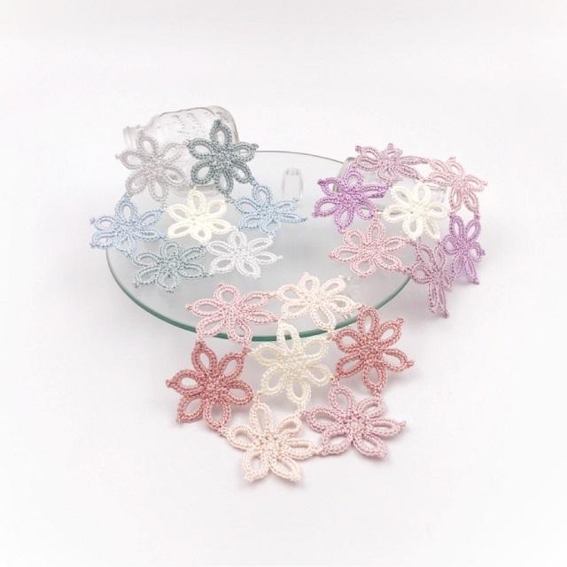 手編み雑貨,HanahanD,花モチーフ,花,ドイリー,レース,敷物