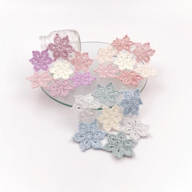 手編み雑貨,HanahanD,レース,モチーフ繋ぎ,花,ドイリー,敷物,コースター