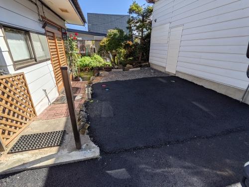 20201016草津温泉カフェ花栞(はなしおり)駐車場舗装工事