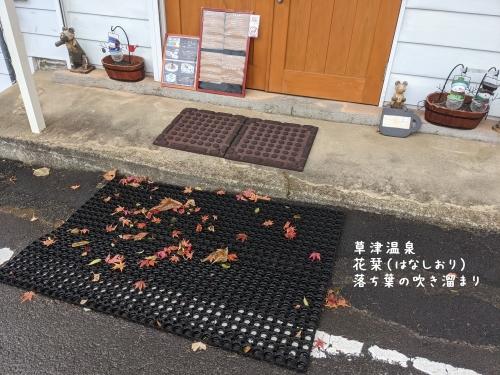 20201120草津温泉カフェ花栞(はなしおり)落ち葉の吹き溜まり