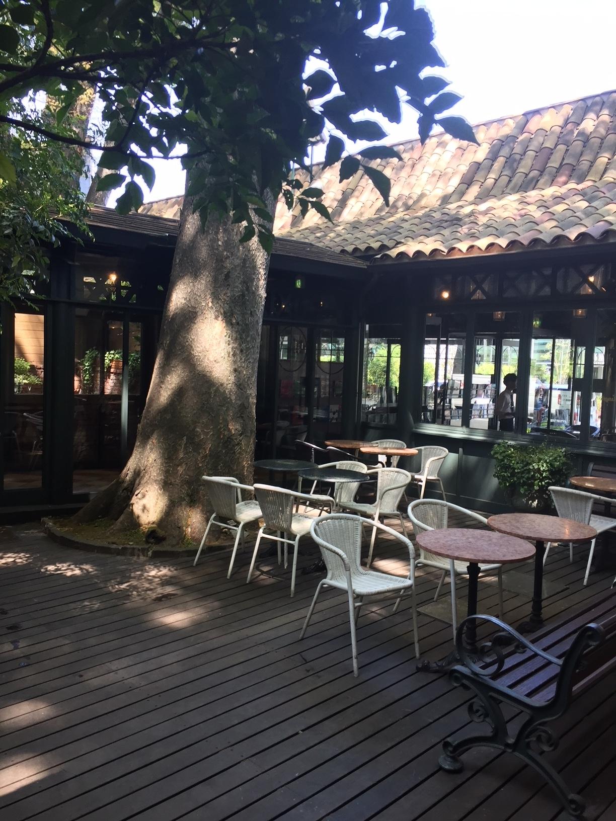 カフェ・ミケランジェロ中庭のコピー