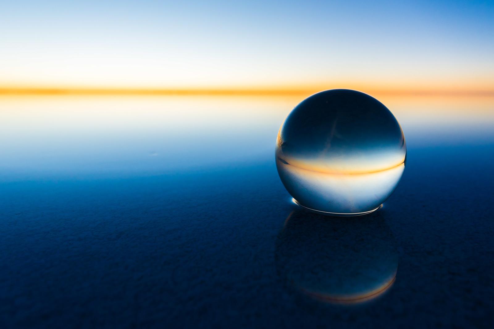ウユニ塩湖と水晶