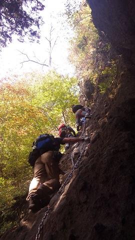 最初の登り