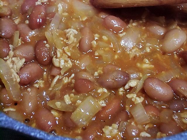 挽き肉とケチャップ炒め