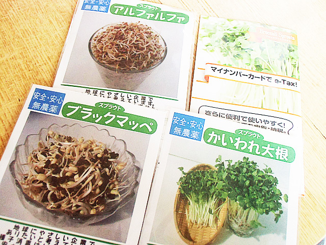 スプラウト種4種類