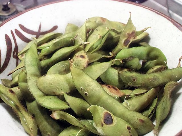 枝豆の塩煎り
