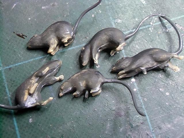 ネズミの彩色