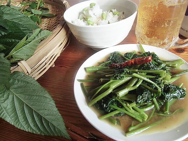空芯菜の味噌炒め