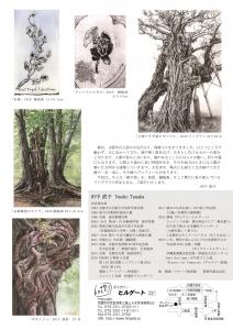 田中直子 小品展「樹の話」 裏