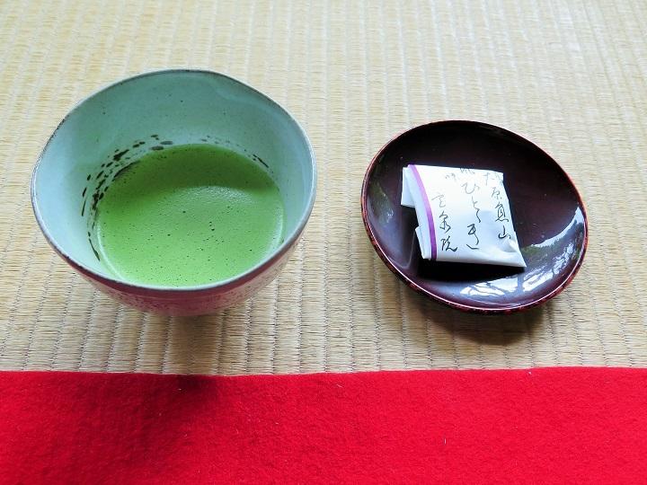 抹茶と菓子