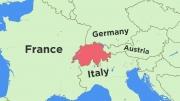 地図スイスと周辺国