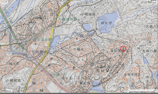 東寺別院位置今昔マップ