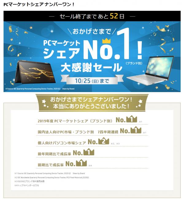 PCマーケットシェア ナンバーワン_200905