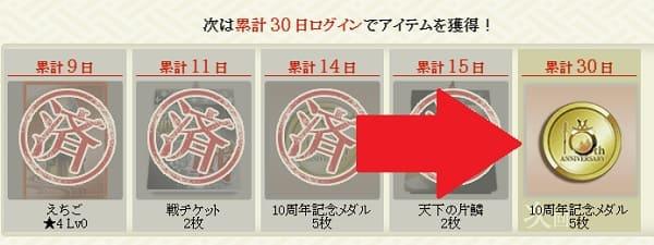 ログボのメダル (1)