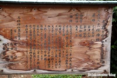 三柱神社 青梅市今井3