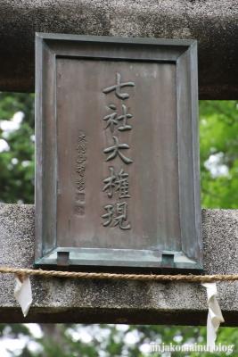 山王七社権現 青梅市塩船4