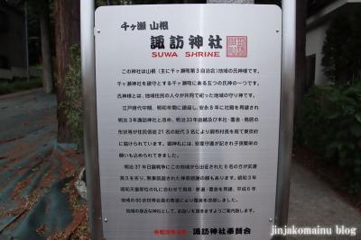 諏訪神社 青梅市千ヶ瀬町1