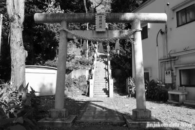 日枝神社 白黒1