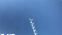 ブルーインパルス航過飛行