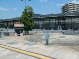 JR可部駅 西口モニュメント全景