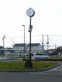 東武加須駅 加須ライオンズクラブ結成30周年記念時計台