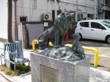JR武蔵新城駅 親子獅子