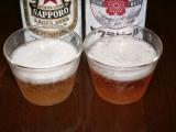 サッポロビール サクラビール 色比較