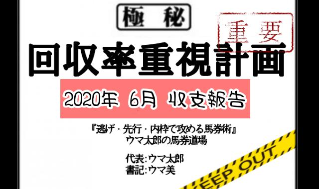 【2020年 6月 収支報告】