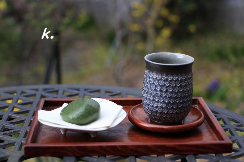 草餅と緑茶