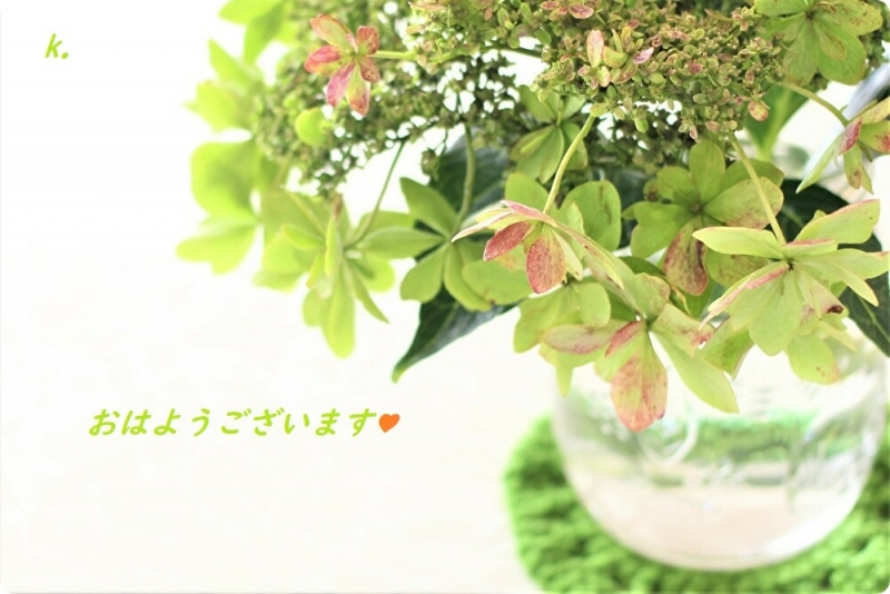 グリーティング10月の紫陽花