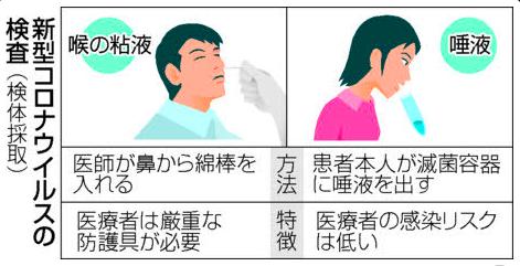 鼻腔と唾液