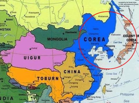 [韓国の反応]2036年から来た未来の東アジアの地図がこれです「韓国ネット民」日本が地図からなければもっといいのにね