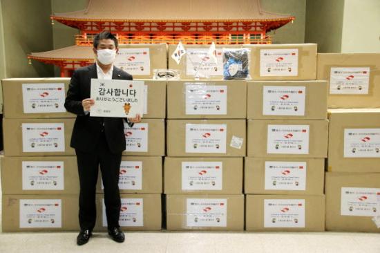 [韓国の反応]中国からの支援物資と日本への支援物資の段ボール箱の比較「韓国ネット民」02