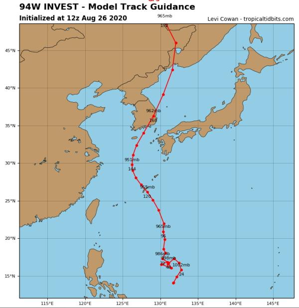 これが台風9号の予想ルートです[韓国ネット民]