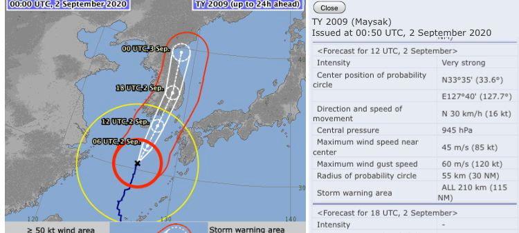 台風9号、弱体化の予測外れ勢力を保ったまま韓国上陸[韓国ネット民]米国、日本の予測が正しいとは、韓国の予報体制には問題があるのではないか?