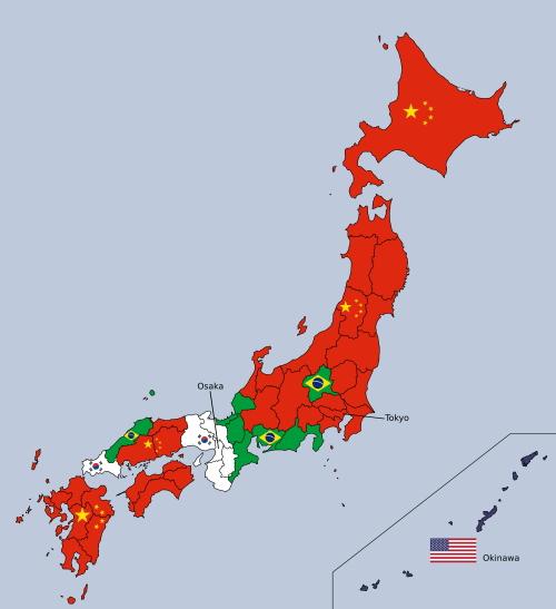 [韓国の反応]これが日本に都道府県別で最も多い外国人を示した地図です[韓国ネット民]