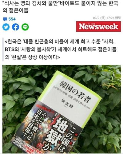[韓国の反応]日本メディア、「韓国の青年はキムチとパン、水だけでバイトにもありつけない」[韓国ネット民]