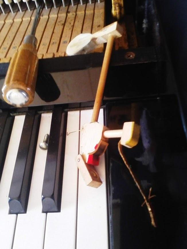 ピアノ修理部分ハンマー